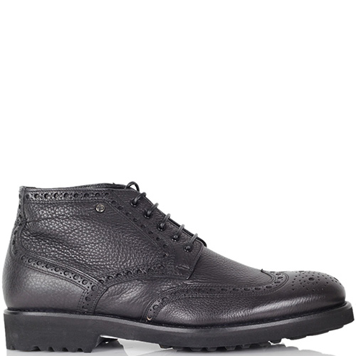 Мужские ботинки-броги Mario Bruni из кожа на меху, фото