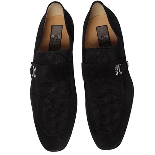 Черные замшевые туфли Cesare Paciotti, фото