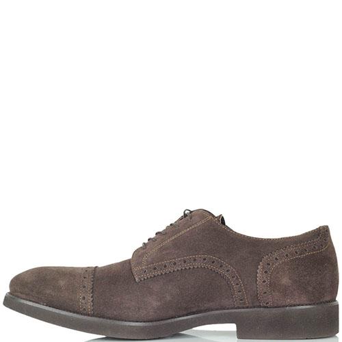 Мужские туфли Maros из натуральной замши коричневого цвета, фото