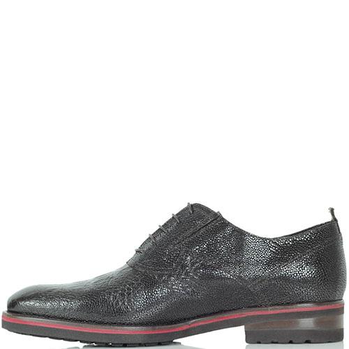 Туфли Mario Bruni из натуральной лаковой кожи с тиснением под кожу рептилии, фото