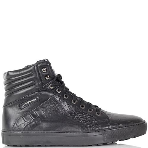 Зимние ботинки Luca Guarini из натуральной кожи с фактурой кроко, фото