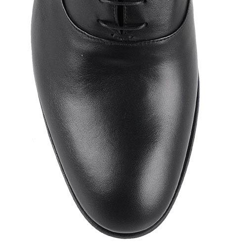 Классические мужские туфли John Richmond из гладкой кожи черного цвета, фото