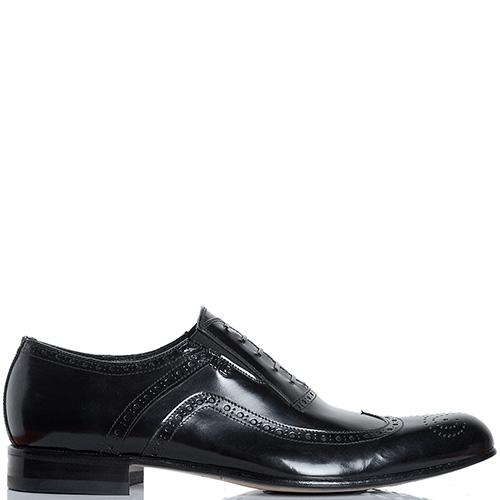 Туфли-броги Mirko Ciccioli из кожи черного цвета, фото