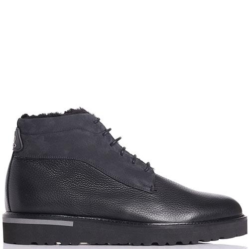 Черные ботинки Lab Milano из зернистой кожи, фото