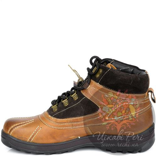 Ботинки Lumberjack коричнево-рыжие кожаные в спортивном стиле, фото
