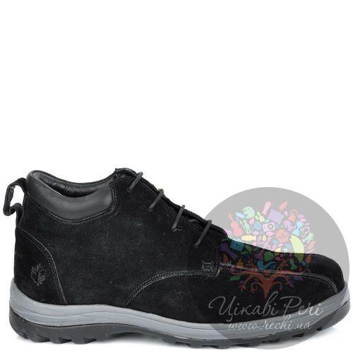 Ботинки Lumberjack замшевые черные с байковым утеплителем, фото