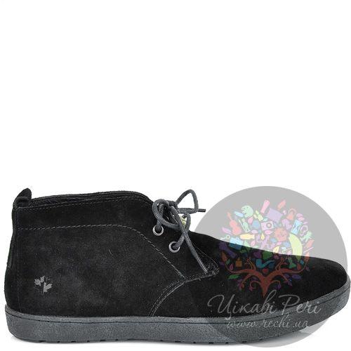 Ботинки Lumberjack замшевые черные осенние на шнуровке, фото