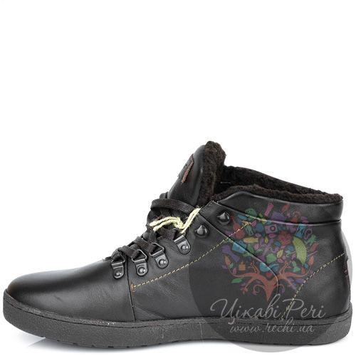 Ботинки Lumberjack темно-коричневые кожаные с утеплителем, фото