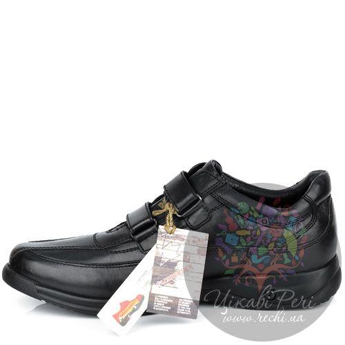 Кроссовки Lumberjack кожаные черные на липучках, фото