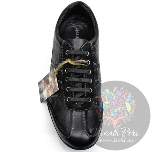 Кроссовки Lumberjack кожаные черные на шнуровке, фото