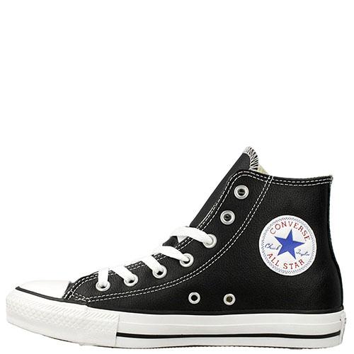 Мужские кожаные кеды Converse черного цвета, фото