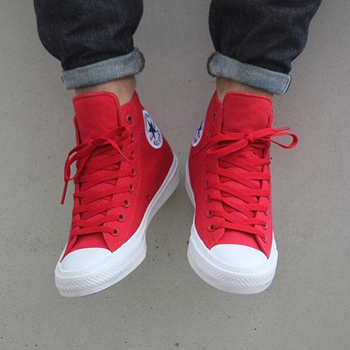 Мужские высокие красные кеды Converse, фото