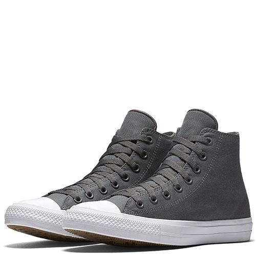 Мужские высокие кеды Converse серого цвета, фото