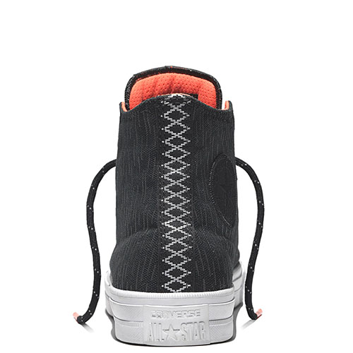 Мужские черные высокие кеды Converse с вертикальной штриховкой, фото