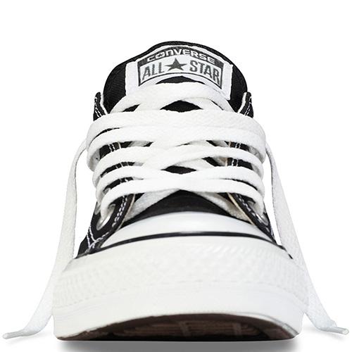 Мужские черные кеды Converse с белой подошвой и шнуровкой, фото
