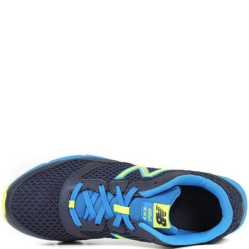 Кроссовки New Balance M630 мужские темно-синие с ярким голубым и желтым цветом, фото