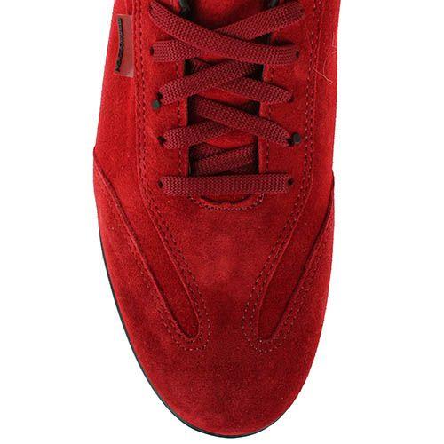 Мужские кроссовки Momodesign из натуральной замши красного цвета, фото