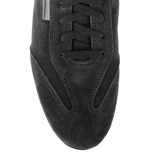 Замшевые кроссовки Momodesign черного цвета с кожаной вставке, фото