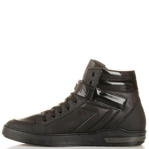 Высокие кеды Momodesign кожаные с брендированным хлястиком-липучкой, фото