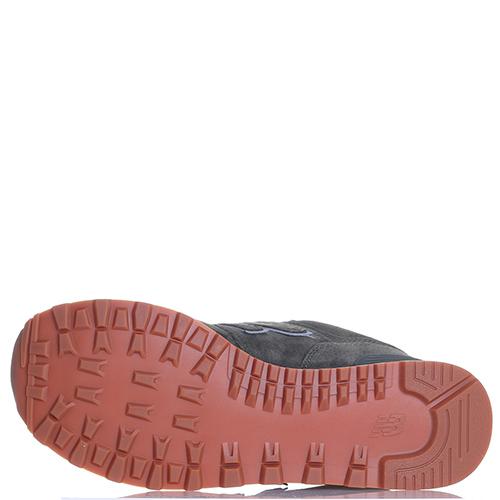 Замшевые кроссовки New Balance 574 зеленого цвета, фото