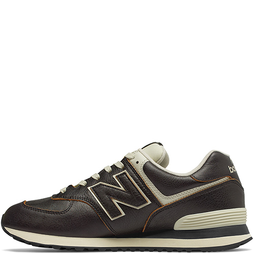 Кроссовки New Balance 574 из коричневой кожи, фото