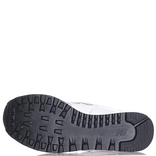 Кроссовки New Balance 574 из кожи белого цвета, фото
