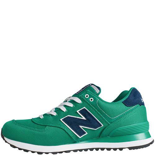 Кроссовки New Balance мужские модель 574 POLO Pack в зеленом цвете, фото