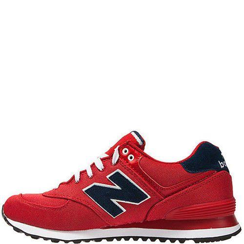 Кроссовки New Balance мужские модель 574 POLO Pack в красном цвете, фото