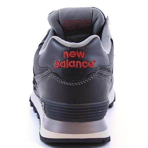 Кожаные кроссовки New Balance LifeStyle 574 Fur черно-серые, фото
