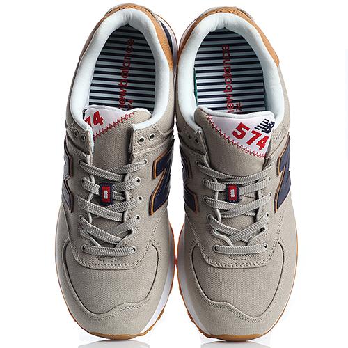 Кроссовки мужские New Balance 574 серо-коричневого цвета ML574YLB-o, фото