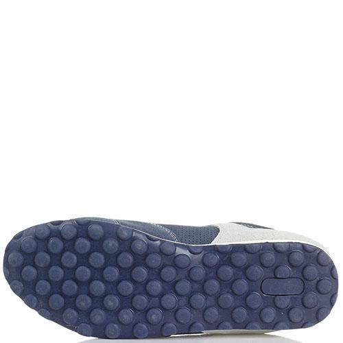 Замшевые синие кроссовки с деталями серого цвета Marina Militare, фото