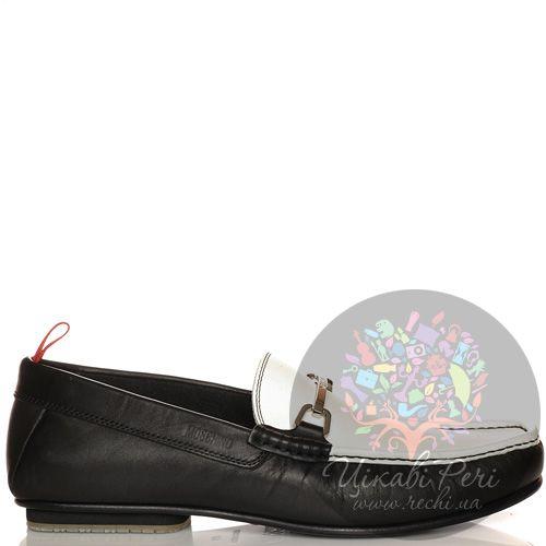 Слиперы Moschino кожаные черно-белые, фото