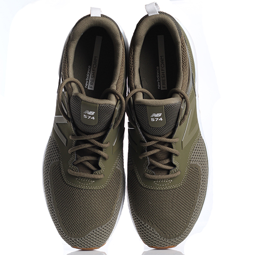 Кроссовки для спорта мужские New Balance 574 оливкового цвета MS574EMO-o, фото
