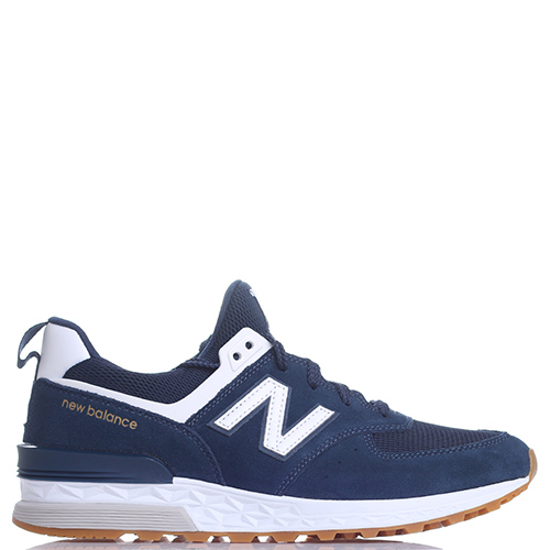 Синие кроссовки New Balance 574 на рельефной подошве, фото