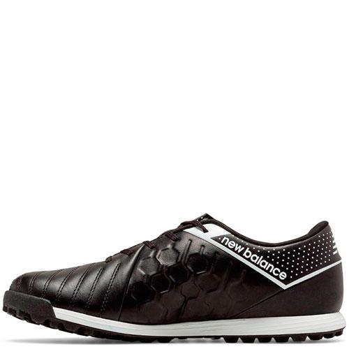 Черные кроссовки New Balance Visaro Leather TF с декоративными строчками, фото