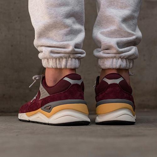 Замшевые кроссовки New Balance X-90 бордового цвета, фото