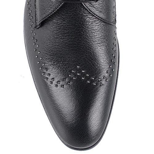 Туфли Richmond из черной кожи с металлическим декором, фото