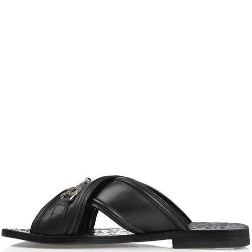 Мужские сандалии Richmond из натуральной кожи черного цвета, фото