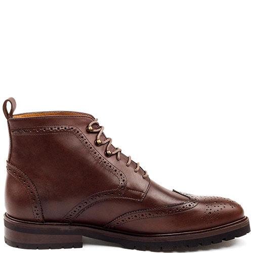 Ботинки-броги Rooster League из натуральной кожи коричневого цвета, фото