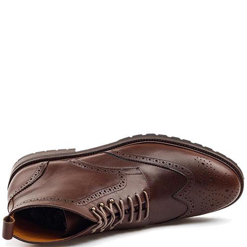 Ботинки-броги Rooster League из кожа коричневого цвета, фото