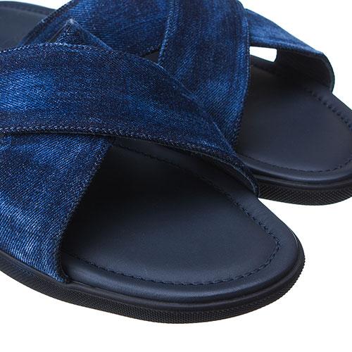Джинсовые сланцы Doucal's синего цвета, фото