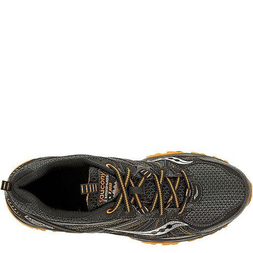 Мужские беговые кроссовки Saucony Excursion TR8 черные с оранжевым, фото