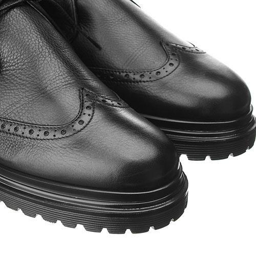 Черные ботинки Alberto Guardiani из зернистой кожи, фото
