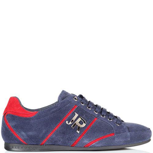 Кроссовки John Richmond из текстиля синего цвета, фото