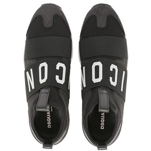 Кроссовки Dsquared2 черного цвета на резинке, фото