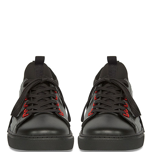 Кеды Dsquared2 черные с красным декором, фото