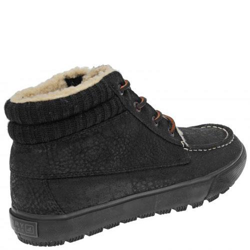 Черные кожаные кеды Sperry Top-Sider для зимнего сезона, фото