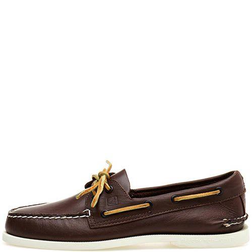 Топсайдеры Sperry Top-Sider A/O 2-EYE кожаные классического коричневого цвета, фото