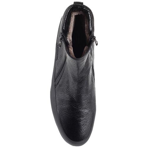 Ботинки на меху Pakerson из зернистой кожи черного цвета, фото
