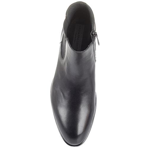 Черные кожаные ботинки-челси Giovanni Conti на молнии и резинках, фото